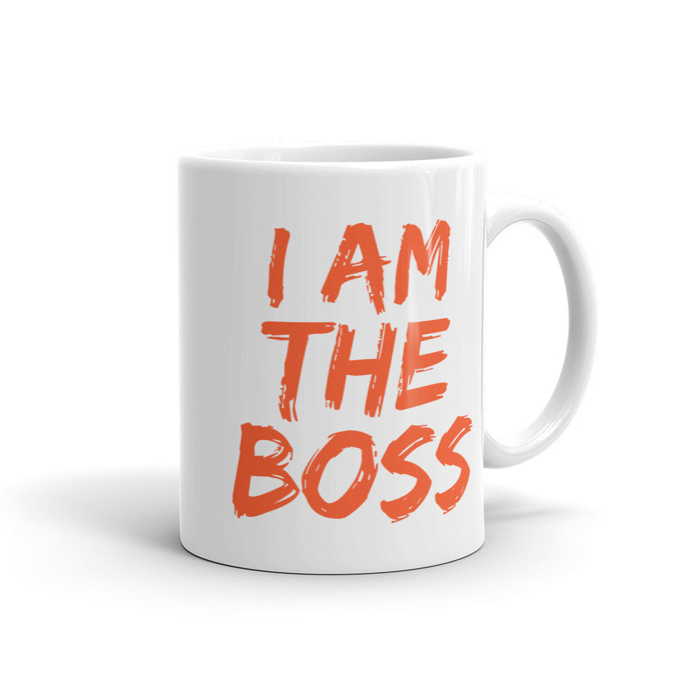 I am the Boss™ Mug (autumn orange lipstick)