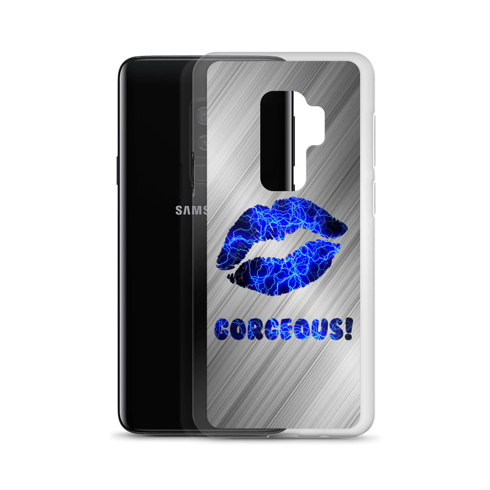 Gorgeous!™ (Brushed Steel + Electric Lips) Samsung Case