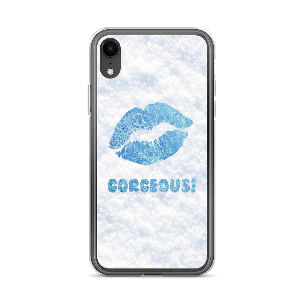 Gorgeous!™ Snow Background + Ice Lips iPhone Case