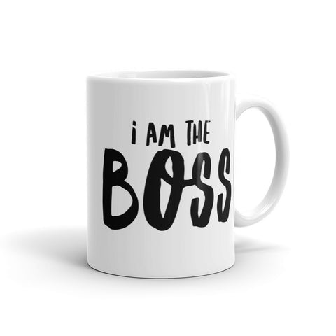 I am the Boss™ Mug (black comic relief)