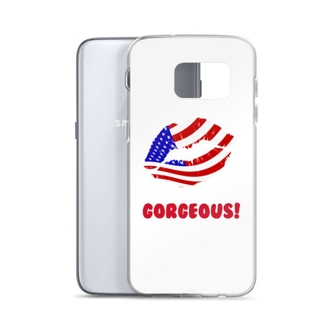 """Gorgeous!™"" (USA + White) Samsung Case"