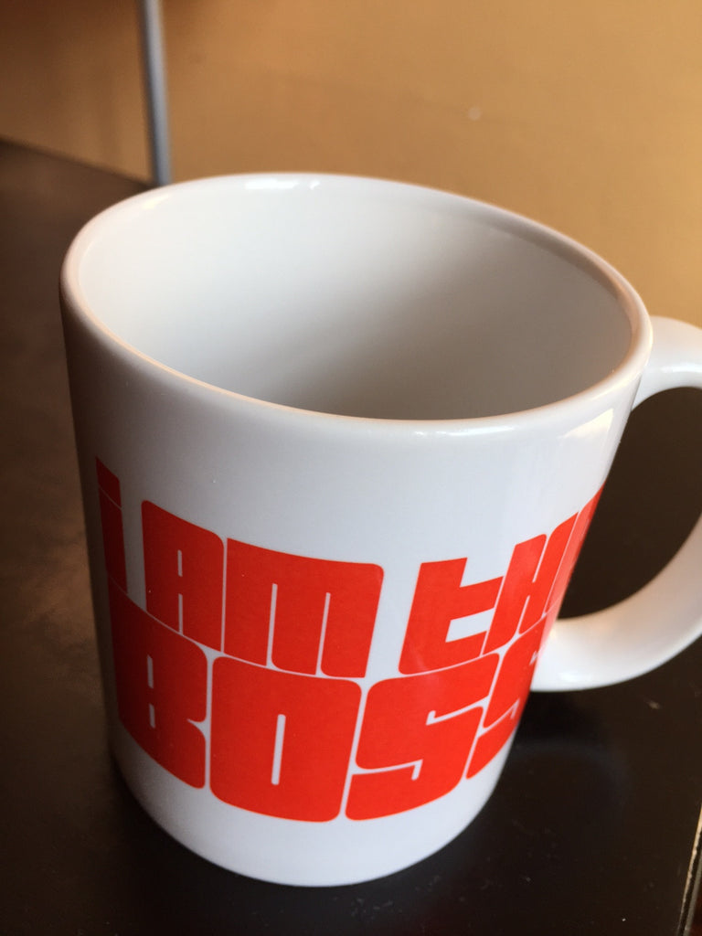 I am the Boss™ Mug (red funky)