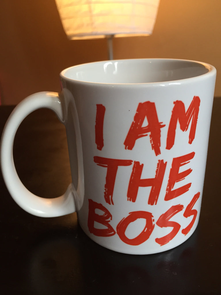 I am the Boss™ Mug (ruby red lipstick)