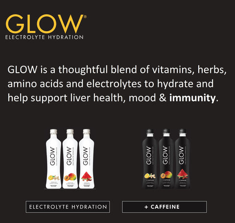 GLOW Electrolyte Hydration Bottles and Description