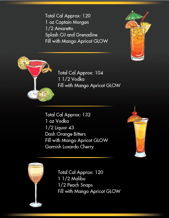 GLOW ELECTROLYTE HYDRATION COCKTAIL MENU