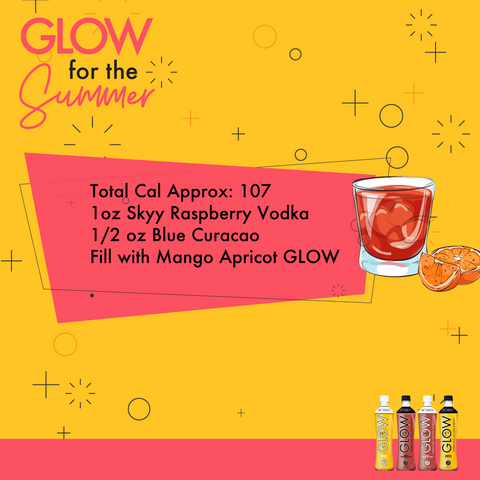 GLOW Sparkling Infused Beverage Low Calorie Cocktails