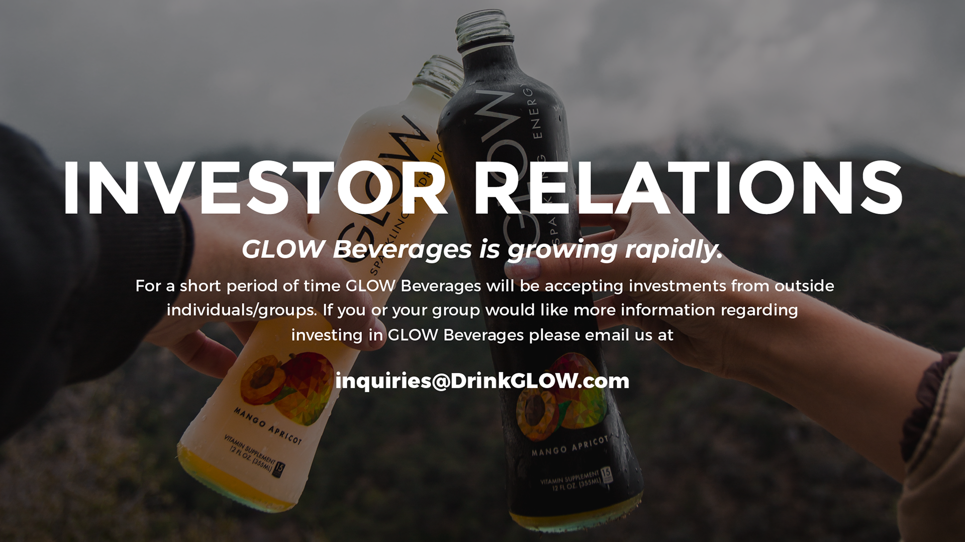 GLOW Sparkling Infused Beverages Investor Relations