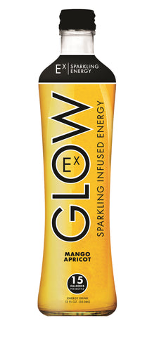 GLOW Sparkling Infused Beverages Mango Apricot Energy