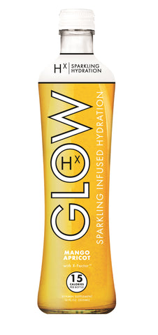 GLOW Sparkling Infused Beverages Mango Apricot Hydration