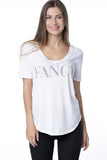 FANCY HIGH/LOW V-NECK TEE
