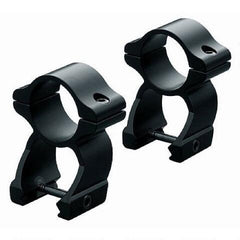 Leupold 1 In High See-Thru Rings - Black Matte