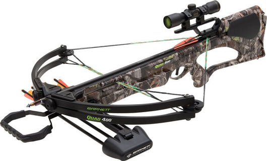Quad 400 Crossbow Package, 3 - 22-Inch Arrows, 4x32mm Scope