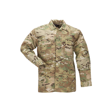 Multicam Tdu Shirt- Long Sleeve, Ripstop