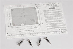 Lowrance  Flush Mount Kit For Elite/Mark Displays