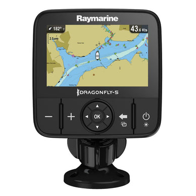 Raymarine Dragonfly 5M GPS w/ US Lakes, Rivers,Coastal Maps by C-MAP
