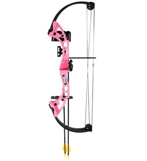 Bear Archery Brave Bow Set pink with biscuit RH