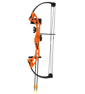 Bear Archery Brave Bow Set in Flo Orange with Biscuit- RH