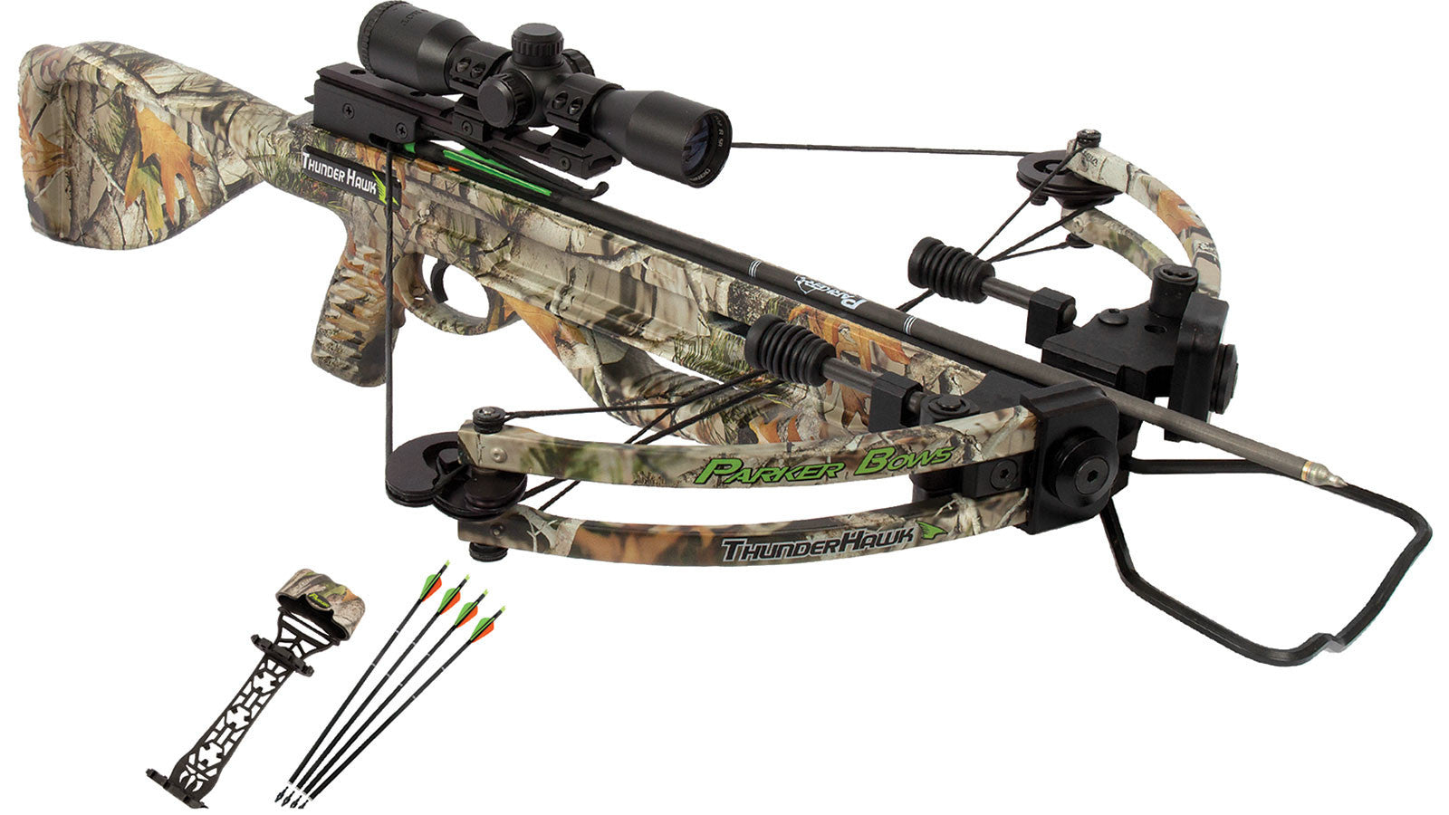 Parker Bows X221-MR ThunderHawk Crossbow Package with 3X MR Scope