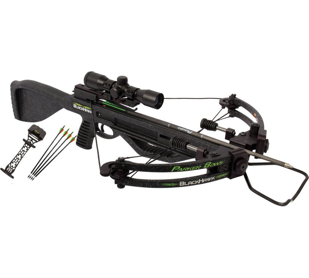 Parker Bows BlackHawk Crossbow Package with 3X Multi-reticle Scope