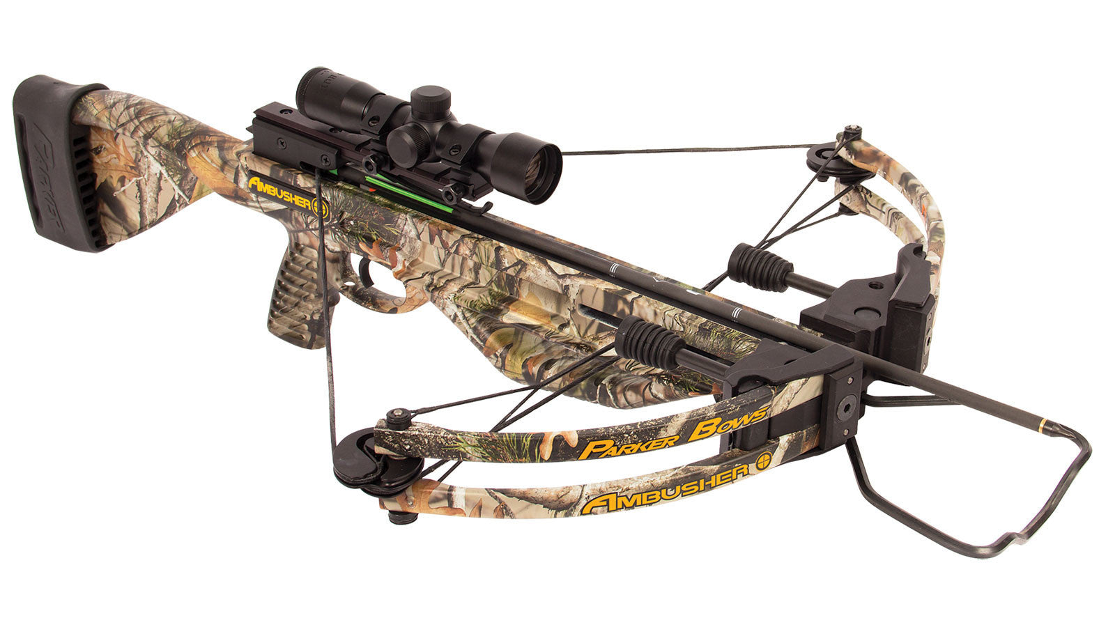 Parker Bows Ambusher Crossbow with 4x Multi Reticle Scope