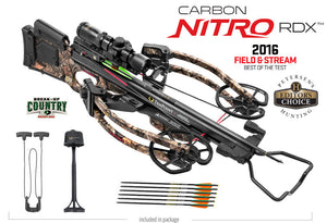 Carbon Nitro RDX Crossbow Package -Dedd Sled 50/Mossy Oak