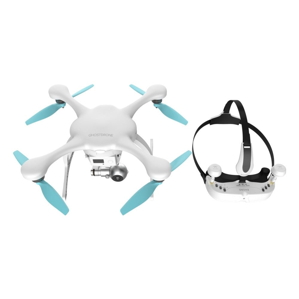 EHANG Ghostdrone 2.0 VR Drone (IOS Compatible) - White/Blue