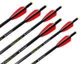 6 Pack of Pro Elite Carbon Crossbow Arrows