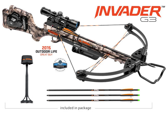 Wicked Ridge Invader G3 Crossbow Package Mossy Oak Treestand - ACU-52