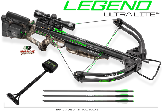 Horton Legend Ultra-Lite Crossbow Package Mossy Oak Treestand with ACU Draw