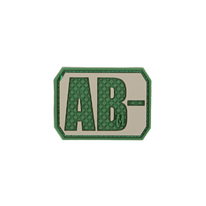 AB- NEG Blood Type Patch - PVC PATCH:BTABNA