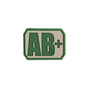 AB+ POS Blood Type Patch - PVC PATCH:BTABPA