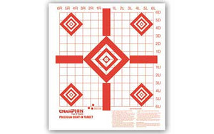 Champion Traps & Targets Rimfire Sight-In Target, Precision, 10 Pack 47388