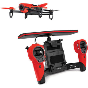 Parrot Bebop & Skycontroller Red Battery Included