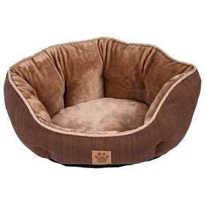 Precision Pet Clamshell Pet Bed - Chocolate Swirl