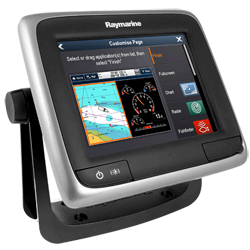 RAYMARINE a65 MFD with C-Map ROW Charts
