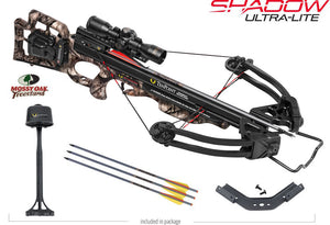 Shadow Ultra-Lite Crossbow Package Mossy Oak Treestand - ACU Draw 50