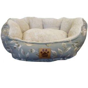 Precision Pet Clamshell Pet Bed - Green Leaf Print