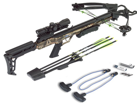 Barnett Crossbow Quiver 3 Arrows Realtree APG Camo Finis