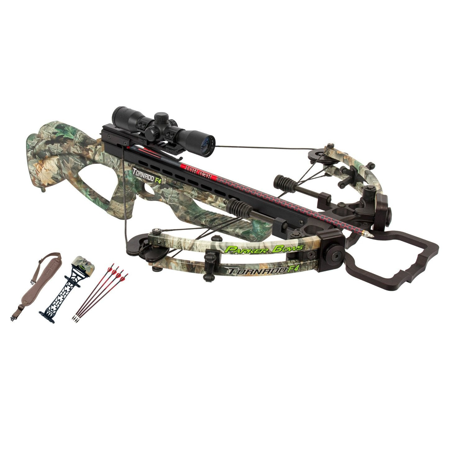 Parker Bows Tornado F4 Crossbow Package with 3X Pin-Point Scope