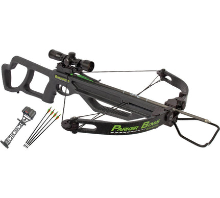 Parker Bows Bushwacker Crossbow Package w/ 4X Multi Reticle Scope