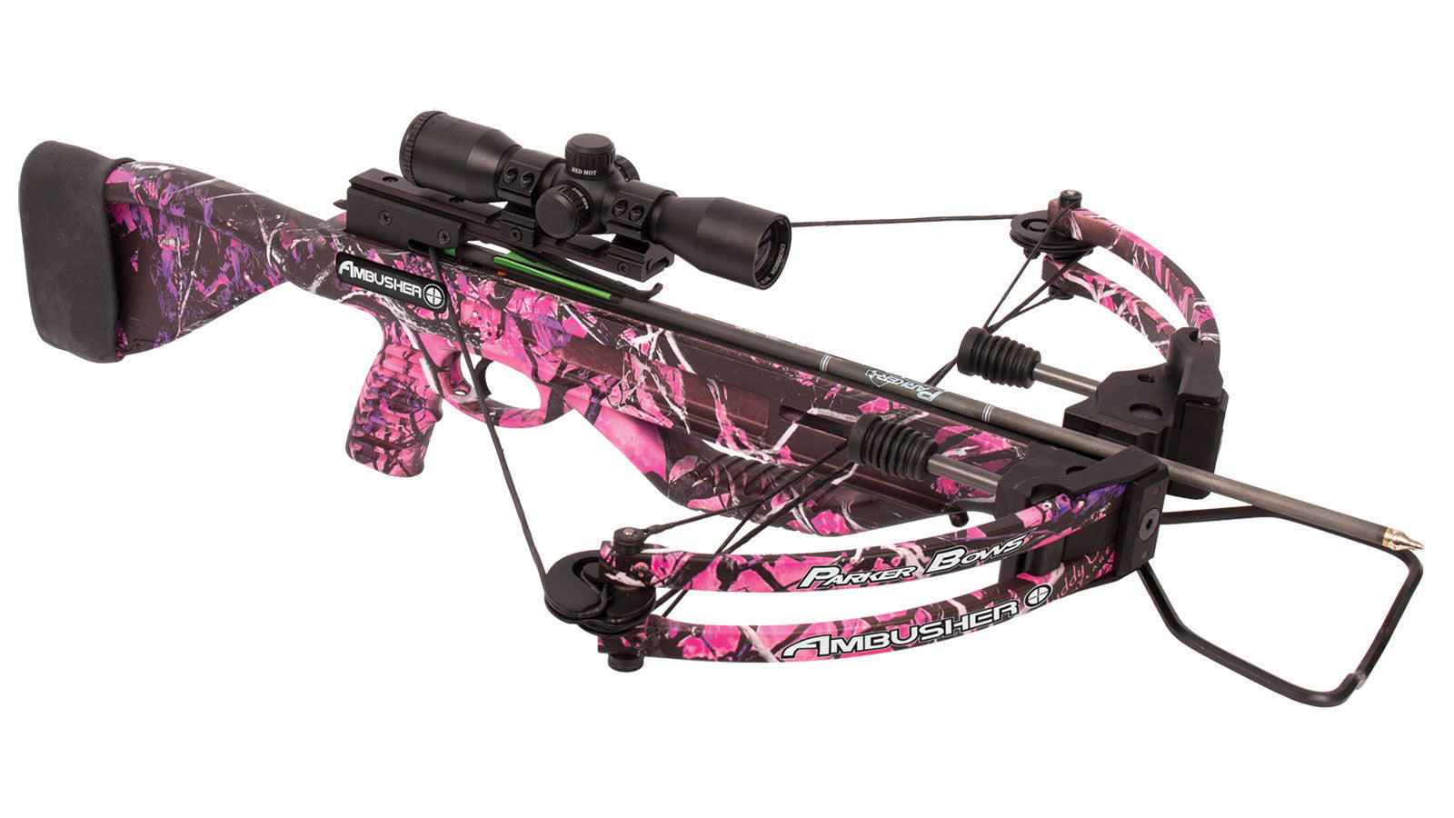 Parker Bows Ambusher Pink Crossbow Package - 3X Multi-Reticle scope