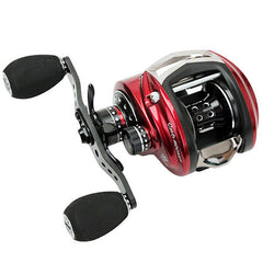 "Abu Garcia  Revo Rocket Low Profile Reel 9.0:1 Gear Ratio, 11 Bearings, 37"" Retrieve Rate, 20 lb Max Drag, Left Hand"