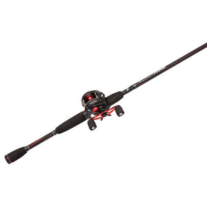 Abu Garcia Black Max Baitcast Low Profile Combo 6.4:1 Gear Ratio. 5 Bearings, 7' 1pc Rod, 8-15 lb Line Rate, Fast Action, RH