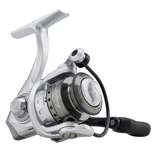 "Abu Garcia Silver Max Spinning Reel 40, 5.1:1 Gear Ratio, 6 Bearings, 29"" Retrieve Rate, Ambidextrous, Clam Pack"