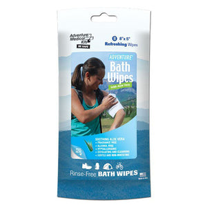 Adventure Medical Adventure Bath Wipes, Travel Size, Per 8
