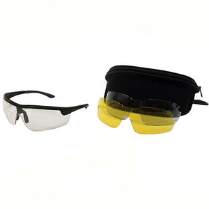 Allen Cases Ion Ballistic Shooting Glasses 3 Lens Set