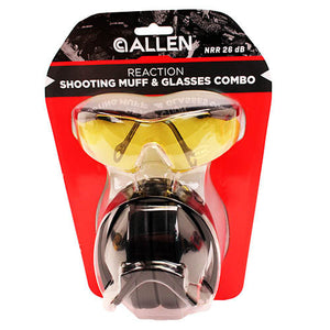 Allen Cases Reaction Shooting Muff & Glasses Combo