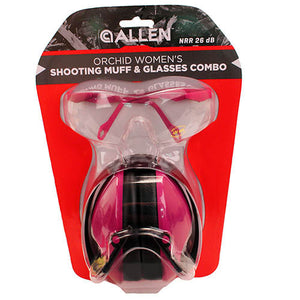 Allen Cases Orchid Womens Shooting Muff & Glasses
