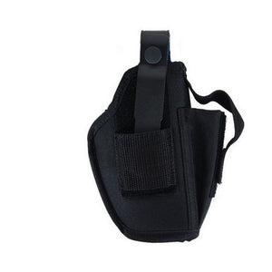 Allen Cases Ambidextrous Hip Holster w/Mag Pouch, Medium, Black
