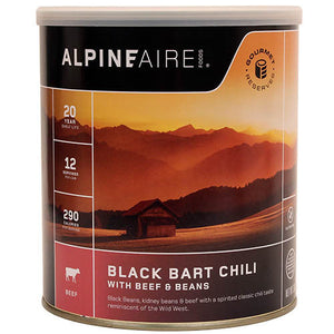Alpine Aire Foods Black Bart Chili w/Beef & Beans No. 10 Can